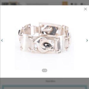 Vintage Sterling Silver Calalily Bracelet